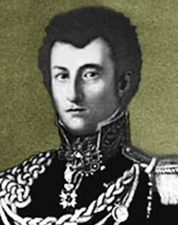 Portrait, Lieutenant-Colonel Clausewitz in Russian uniform c.1813