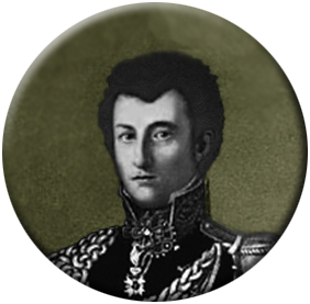 Clausewitz in Russian uniform, c.1813, copyright Clausewitz.com